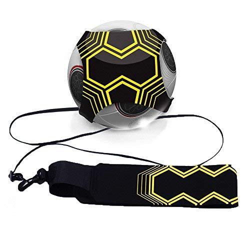 Mture Fußball Kick Trainer, Football Trainer Fußball Practice Solo, Soccer Practice Training mit verstellbarem Taillengürtel Hilfe Kontrolle Fertigkeit Fußballtraining Training für Kinder