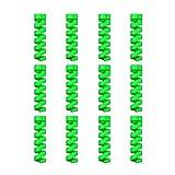 12 Unidades Protector de Cable en Espiral - para Cables Lightning iPhone y Macbook, Tipo C, Micro USB, Ethernet, Cargador, Auriculares, Ratón, Teclado - Hecho en Silicona Flexible - Universal - Verde