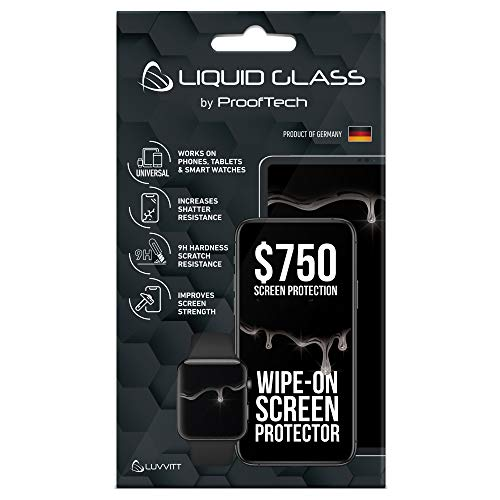 Liquid Glass Screen Protector with $750 Screen Protection - Scratch Resistant Wipe On Coating for All Apple Samsung and Other Phones Tablets Smart Watches - Universal
