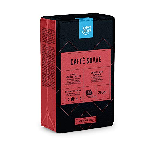 "Marca Amazon - Happy Belly Café molido ""Caffè Soave"" (4 x 250g)"