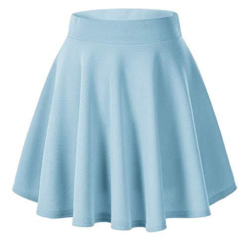 Vectry Mini Falda De La Venda Elástica del Color Sólido De Moda Mujer Falda del Vestido De Bola