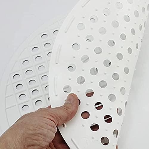 Salvaplatos Fregadero Redondo, Protector Antideslizante evita Arañazos, Alfombrilla escurridora de PVC, 32cm Color Gris Claro
