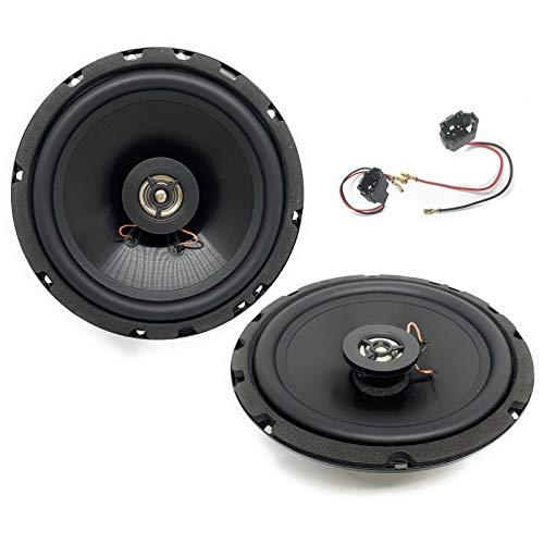 Sound-Way Altavoces 16,5 con adaptadores compatible con Citroen, Peugeot, Opel, Fiat, Alfa romeo