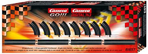 Carrera Go!!! Carrera Digital 143 - 20061657 - Véhicule Miniature et Circuit - Pièce Détachée - Voie Simple Droite/Courbe Extension Kit