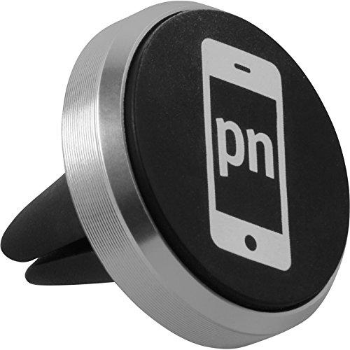 PhoneNatic Supporto Universale Porta Cellulare da Auto per Bocchetta d'Aria Adatto per Smartphone Argento
