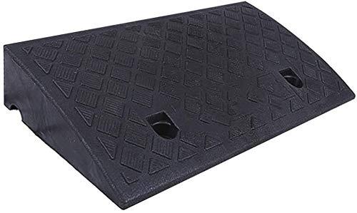 SSB Rampas de goma para puerta de coche, placa de canal de plástico, rampa para silla de ruedas, antideslizante, resistente al agua, cojín (color: negro, tamaño: 50 x 27 x 9 cm)