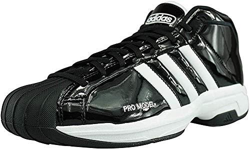 Adidas Pro Model 2G, Zapatillas Baloncesto Hombre, Negro Core Black FTWR White Core Black, 45 1/3 EU
