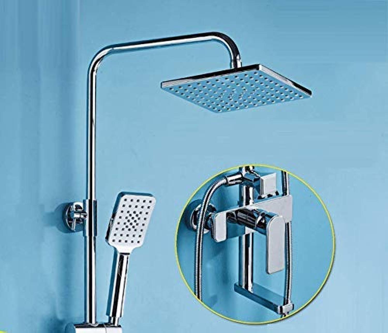 GFF Dusche Badezimmer Dusche Handheld Liftable Warmes und kaltes Wasser One Button Three Control Dusche Duschset Badewanne Dusche Mischbatterie