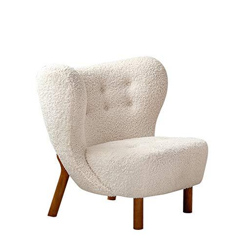 ZzheHou Poltrona Nordic Single Sofa Chair Home Soggiorno Piccolo Appartamento Salotto Sedia Camera da Letto Piccolo Divano (Colore : White, Size : 46x52x74cm)