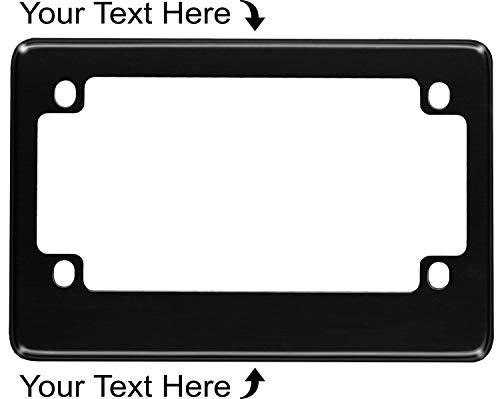 Motorcycle Custom Anodized Aluminum License Plate Frame - Black