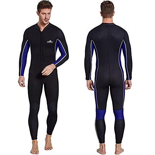 HIYIRUI Trabajo de Traje de Trabajo Completo Hombres 3mm Neopreno Traje de Buceo UV Protección de UV de Manga Larga One Pieza Traje de baño para Snorkeling Surfing Buceo Kayak Jet Skiing,XL