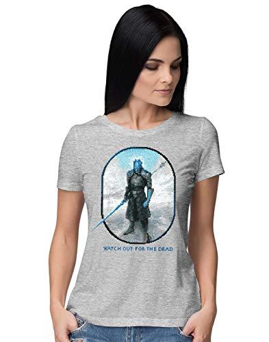 BLAK TEE Damen Watch Out for The Dead T-Shirt S