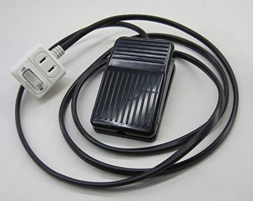 コンセント型 フットスイッチ (コード1.8m) 電動工具等に AC100V フットペダルスイッチ
