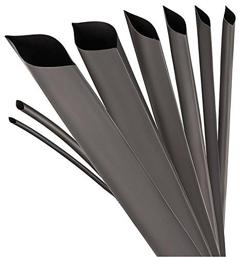 Schrumpfschlauch 4:1 mit Kleber schwarz vers. Durchmesser und Längen von ISOLATECH hier: Ø2inch-5ft (Ø52mm-1,5meter)