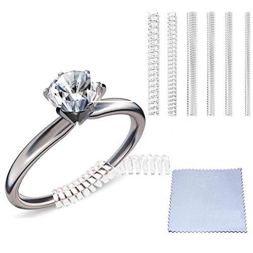Eiito Ring größenmesser (Set mit 4 Größen) schmuckwerkzeuge Ringeinsätze, Ringgrößenversteller mit Silberpoliertuch (1,2mm/2mm/3mm/3mm/4mm)