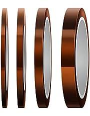 Kuinayouyi 4 Stks Hittebestendige Tape Hoge Temp Tape Sublimatie TapeThermische Tape voor Sublimating Print Warmteoverdracht en Isolatie