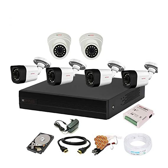 Cp Plus 8 Channal HD DVR 1080p 1Pcs,Outdoor Camera 2.4 MP 4Pcs,Indoor Camera 2.4 MP 2Pcs,1 TB Hard Disk,Full Combo Set