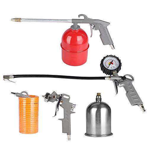 5 piezas pistola de pulverización accesorios de compresor de aire inflador pistola de aire manguera Kit de limpieza de pintura