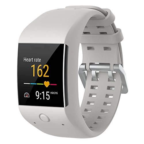Sunhoyu - Correa de reloj para Polar M600 GPS con correa de silicona de repuesto, Blanco, medium