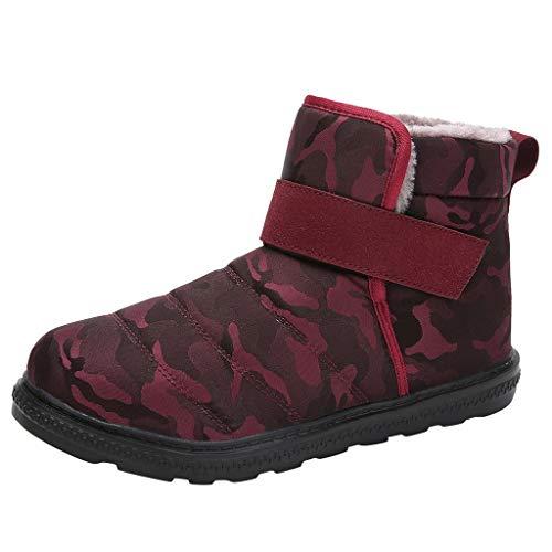 Kaister Damen Stiefel Schneeschuhe Kurze Stiefel wasserdichte Schuhe Winter Stiefel Warm Gefüttert Ankle Stiefeletten rutschfeste Worker Boots Outdoor Stiefel