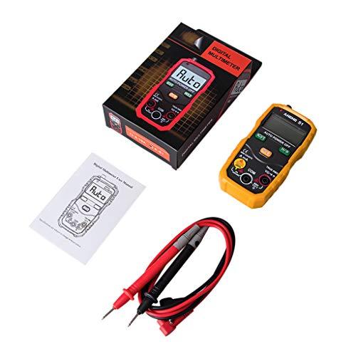 wenjuersty S1 Digitales Multimeter Auto Range True RMS NCV mit LCD Hintergrundbeleuchtung Taschenlampe 4000 Counts Data Hold