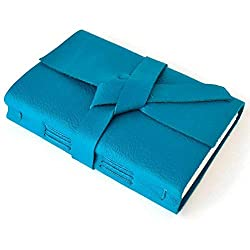 Teal Blue Genuine Leather Journal