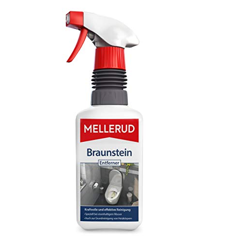 MELLERUD Braunstein Entferner – Chlorfreies Reinigungsmittel zum Entfernen von Braunstein und Verfärbungen im Badezimmer – 1 x 0,5 l