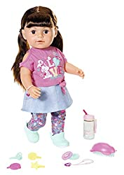 Your little one will love growing their BABY born family with our big sister! With 6 functions and 10 accessories. She can drink, cry and go in the bath. With new, movable knees so she can stand on her own. 43cm doll, to fit all BABY born 43cm clothi...