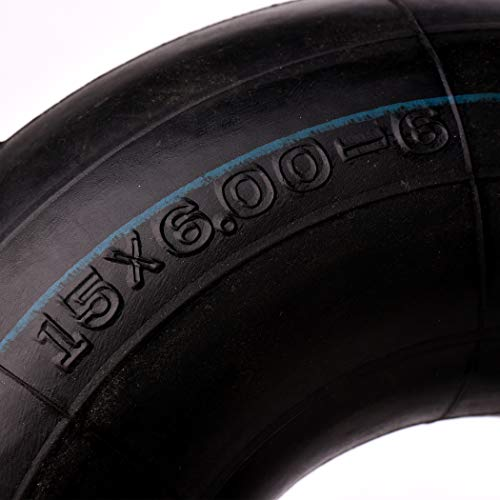 AR-PRO 15x6.00-6 Replacement Inner Tubes with TR-13 Valve Stem for Wheelbarrows, Mowers, Hand Trucks and More (2-Pack)