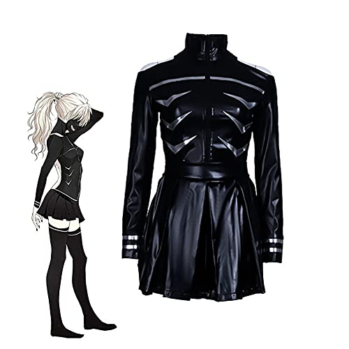 Anime Tokyo Ghoul Touka Kirishima Cosplay traje conjunto completo de cuero negro vestido de lucha uniforme mujeres Halloween partido trajes, Touka Kirishima, L
