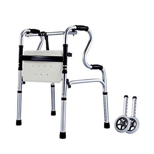 SSNG Multifunktionale Gehhilfe für ältere Menschen Reha-Trainingsgeräte für Gehhilfe-Krücken Gehgestell für ältere Menschen,(D)