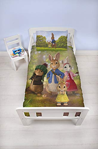 Peter Konijn Junior Bed Dekbedovertrek Set Beatrix Potter Kids Beddengoed - Exclusieve Britse Design Beddengoed Set