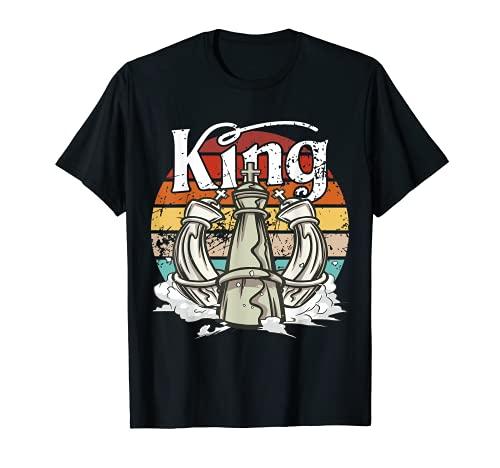 Rey de ajedrez vintage, juego de mesa de estrategia, King checkmate Camiseta