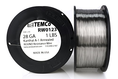 TEMCo Kanthal A1 wire 28 Gauge Resistance AWG A-1 ga