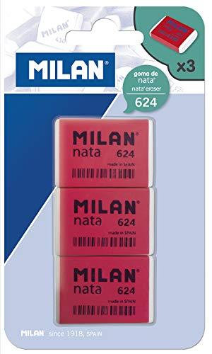 Milan BPM9205 - Pack de 3 gomas de borrar