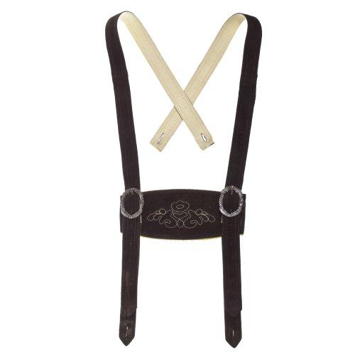 Bongossi-Trade Klassische Hosenträger für Trachten Lederhosen Hosenträger H-Träger Dunkelbraun