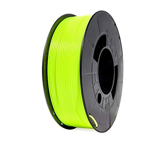 Winkle Filamento Pla HD | Pla 1,75 mm | Filamento stampa | Stampante 3D | Filamento 3D | Colore Giallo Fluorescente | Bobina 1000 g
