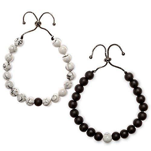 Believe London Distance Bracelets (Pulsera de Cadena Ajustable Negro)