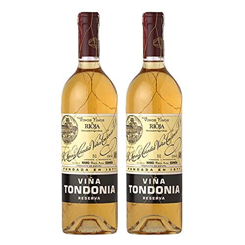 Vino Blanco Viña Tondonia Reserva 2004 de 75 cl - D.O. La Rioja - Bodegas R.Lopez de Heredia (Pack de 2 botellas)