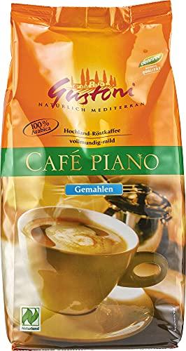 Gustoni Bio Café piano, natürlich-, mild gemahlen (6 x 500 gr)