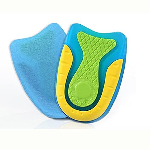 JJZSL Plantilla de Gel de Silicona para Mujer Hombre tacón de cojín Plantillas Suelas de releva al relevar el Dolor de Spur Soporte Zapato Almohadilla Alto tacón Inserto Unisex (Size : L Men)
