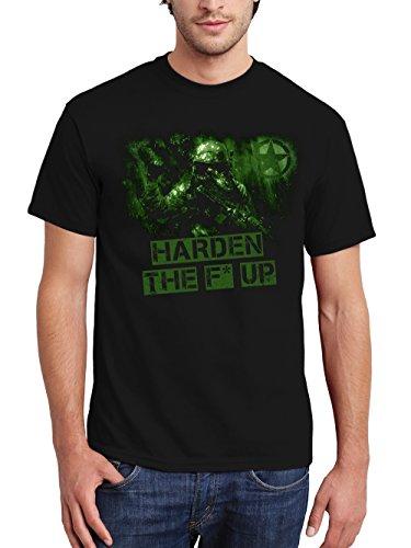 clothinx Herren T-Shirt Harden The F Up Schwarz Gr. L