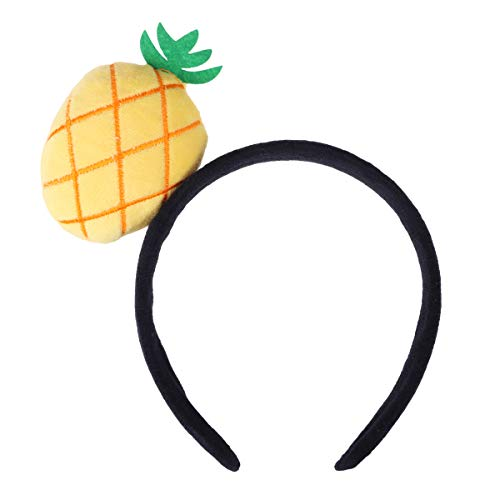 Amosfun Pluche haar hoepel schattig fruit hoofdband meisjes ananas patroon haarband cosplay haar decor
