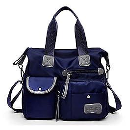 S.CHARMA Sac Cabas Femme Sac fourre-tout Moyen Synthétique Grand sac à main sac de voyage Sac à main multi-poches Sac à…