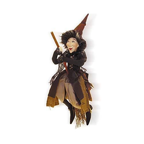 Hexen von Pendle-Rebecca Hexe fliegend (braun) 32cm