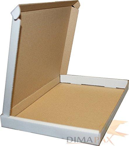 500 stuks grote brievenbus verzending doos brievenzending 230 x 160 x 20 mm wit dimapax