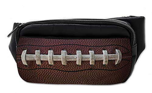 Lunarable Unisex Bauchtasche, American Football Laces