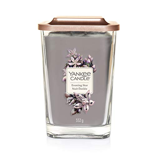 Yankee Candle Elevation Collection piattaforma con coperchio grande 2-wick piazza candela profumata, Evening Star