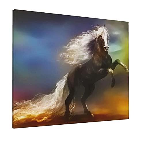 JIANSHAN Pintura al óleo de caballo de fantasía para decoración de pared, dormitorio, sala de estar, oficina, 16 x 20 pulgadas (sin marco)