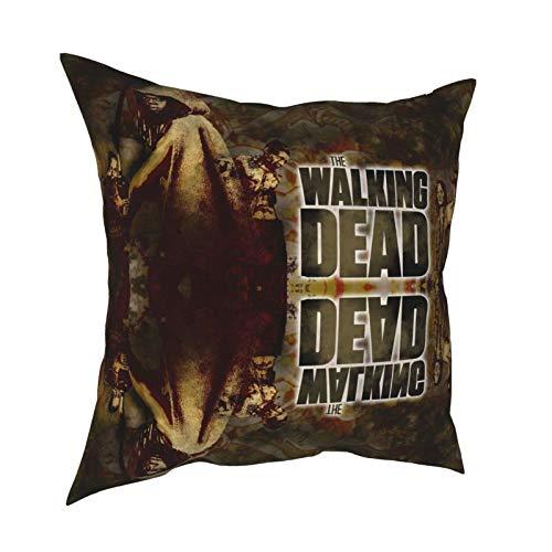 King Ezechiel Detective Zombies a new frontier Daryl Dixon The Wal-king De-ad Federa per cuscino da camera da letto con antirughe, 30,5 x 30,5 cm
